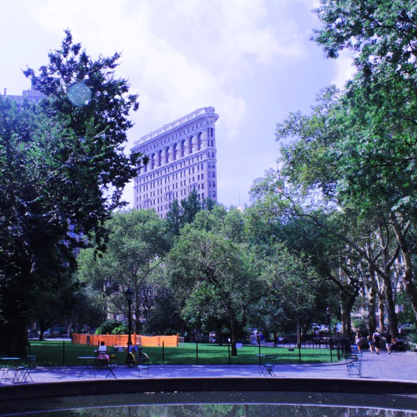 Flation Building from Madison Square Park
