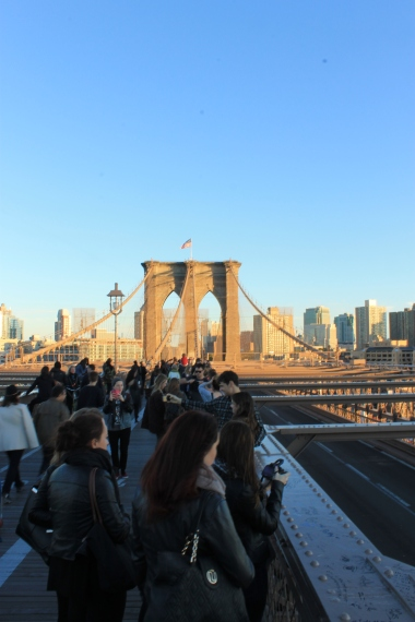 Brooklyn Bridge -Crowd