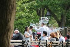 Bubbles at Washington Square Park