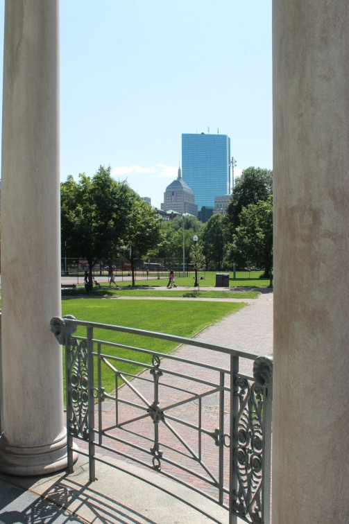 View from the heart of Boston Common, America's oldest public park