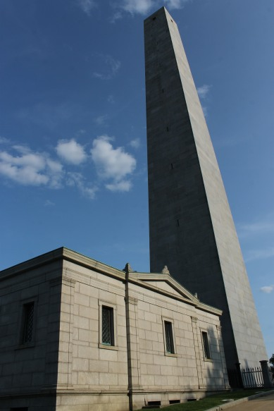 Bunker Hill Monument, where a battle took place against the British Army in 1775.