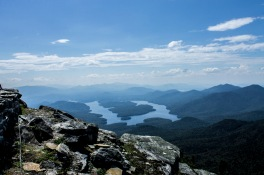 Lake Placid viewed from the Whiteface Mountain