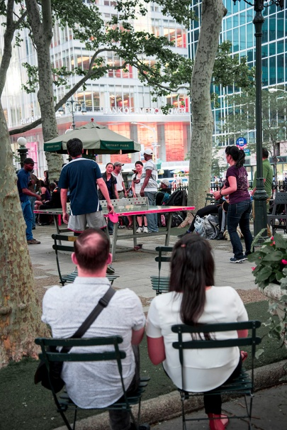 Bryant Park - Ping Pong Game