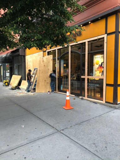 Stores before the protest, Upper West Side