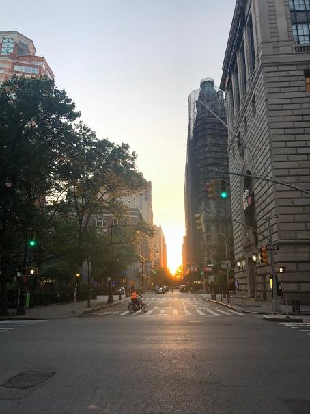 Manhattanhenge like Upper West Side